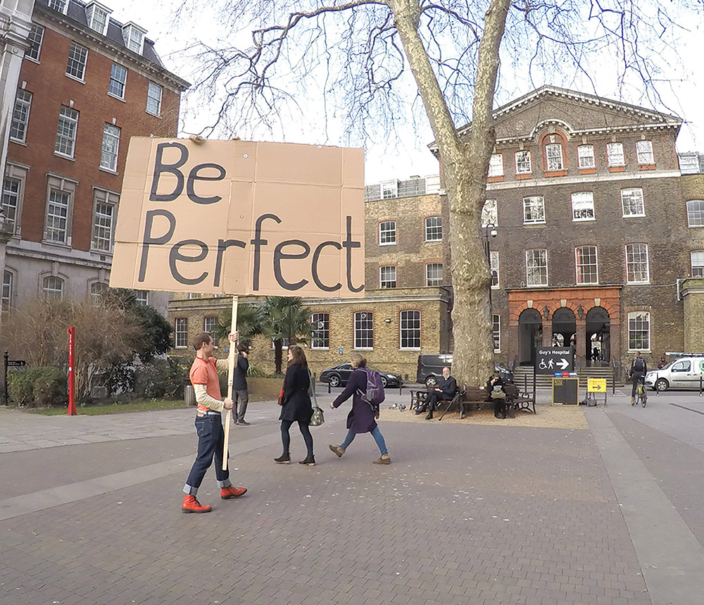 """Be Perfect"" by 2005 awardee Anthony Schrag."